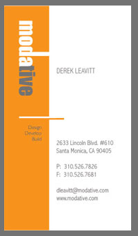 architects business cards