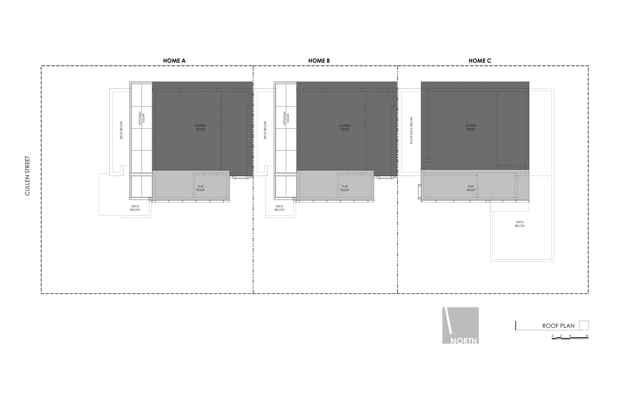 Art District Small Lot Homes Cullen Roof Plan