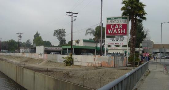 exist river side of car wash