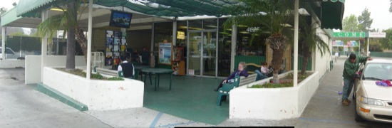 car wash existing waiting area