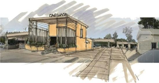 Modern car wash architect fashion square car wash retail modern architect concept sketch malvernweather Choice Image