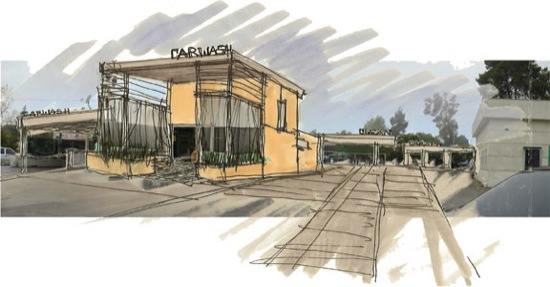 modern architect concept sketch