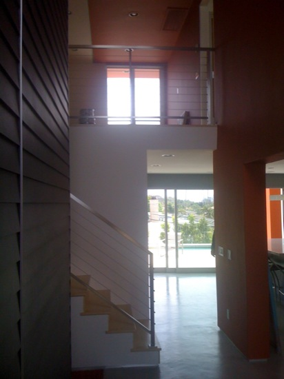contemporary remodel stair