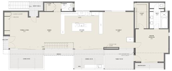 Culver City Residential Architect Floor Plan