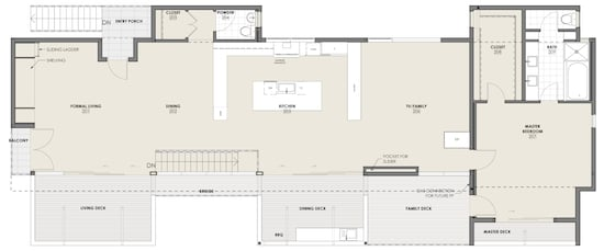 Culver City Residential Architect Floor Plan