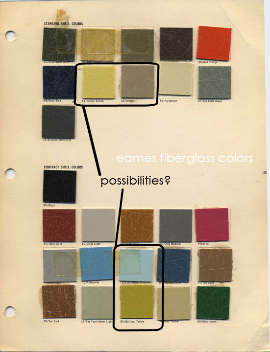 mid century modern architect colors
