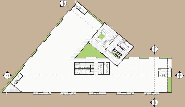 Superior Modern Tilt Up Plan. Modern Tilt Up Office Building
