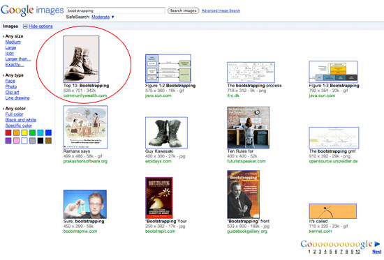 google images experiment