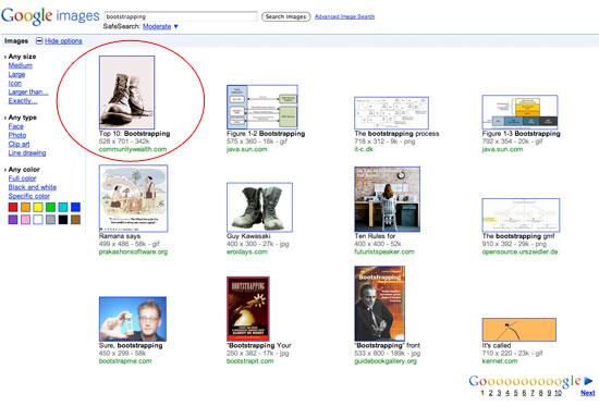 google images experiment