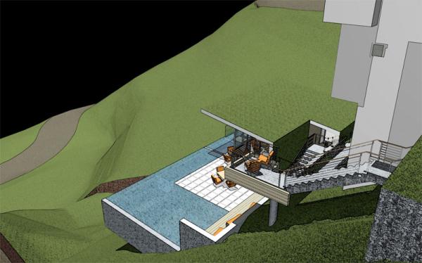 hillside pool design