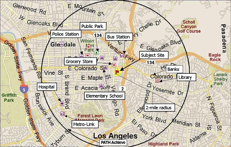 amenity map homeless housing
