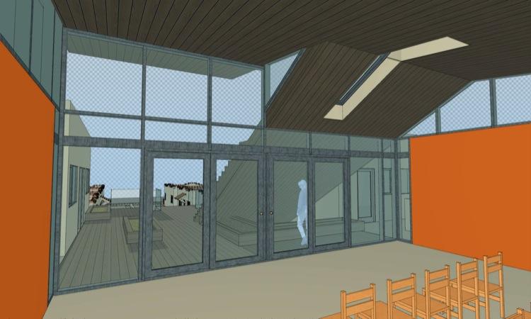 community room design homeless housing