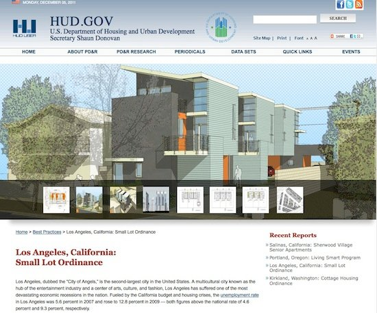 HUD Small Lot Subdivison Los Angeles