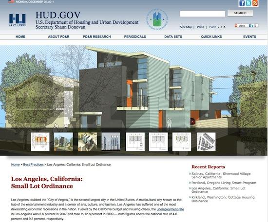 HUD Small Lot Subdivison Los Angeles