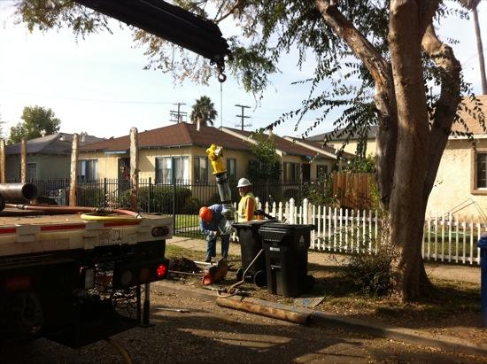 LA fire hydrant install 04