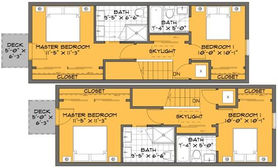 la modern skinny house plans 03