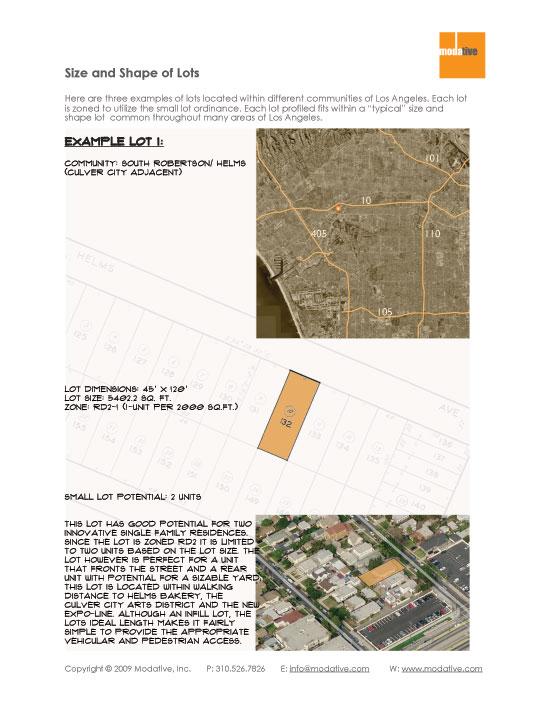 Small Lot Subdivision Property