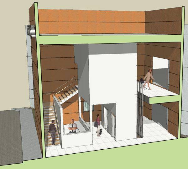 modern tilt up office building