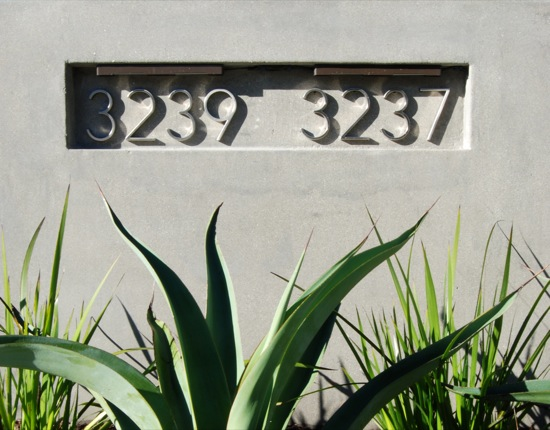 Los Angeles Architects Modern House Numbers