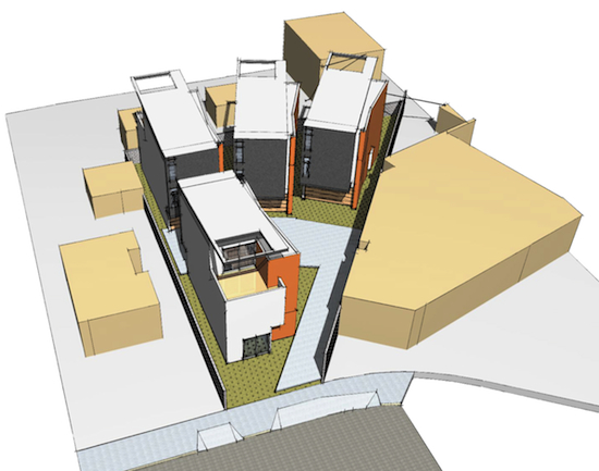 Modative architecture impacts culver city arts district for House plans for triangular lots