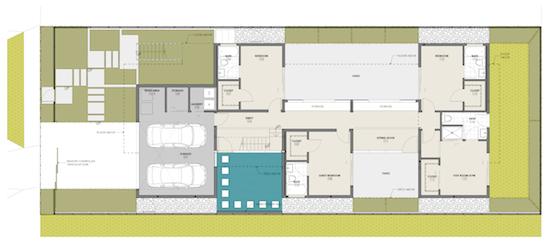 Los Angeles Residential Architect Floor Plan