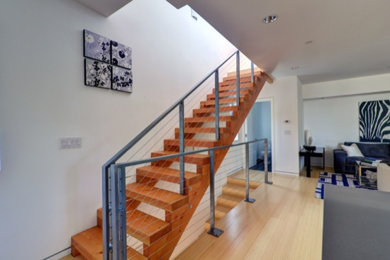 Los angeles small lot homes stair