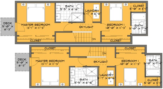 modern bedroom floor plans small house