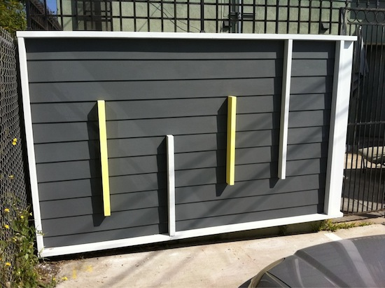 modern siding mock up
