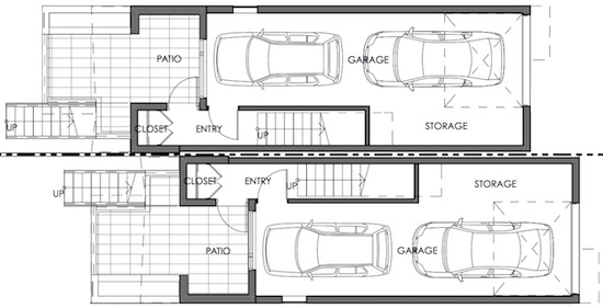 los angeles small home first floor plan