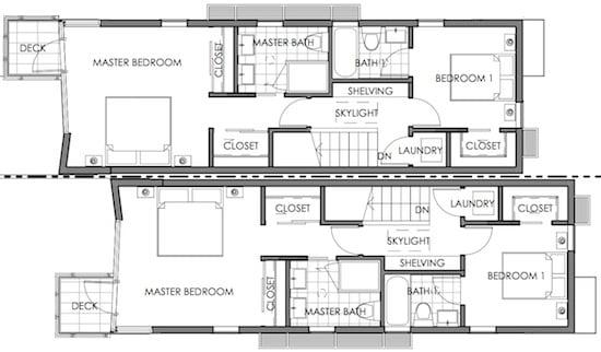 modern small lot floor plan