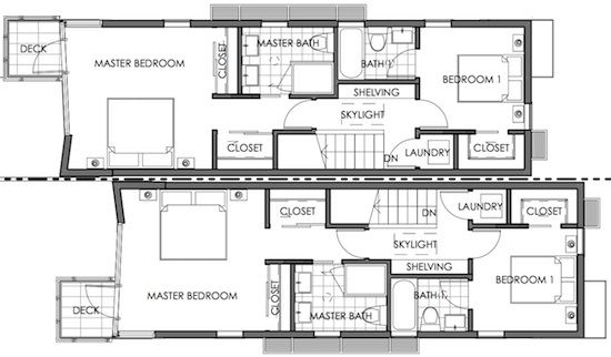 modern small lot floor plan