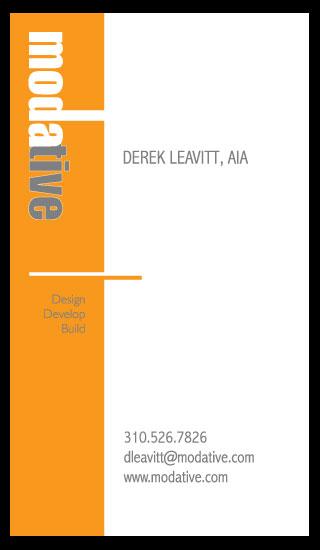 modern architect business card