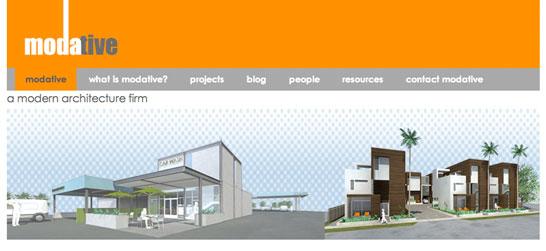 modern architects website sample
