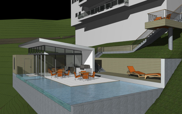 Modern Pool & Pool House | Hollywood Hills Modern, Contemporary ...