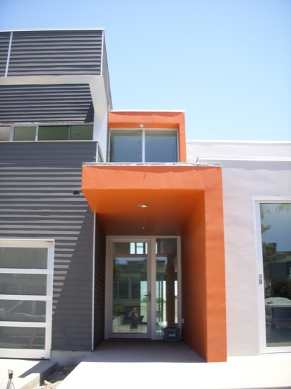 modern home entry - Modern House Front View Design