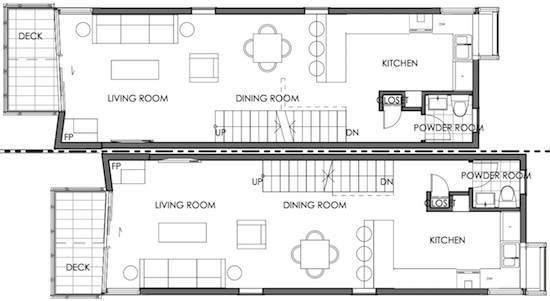 narrow house floor plan