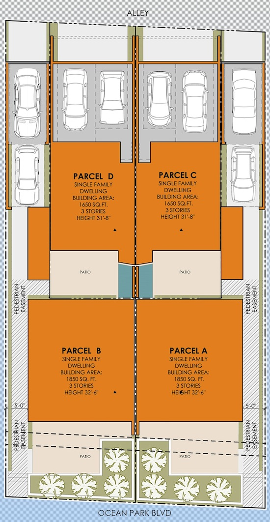 Ocean Park Small Lot Architect Site Plan