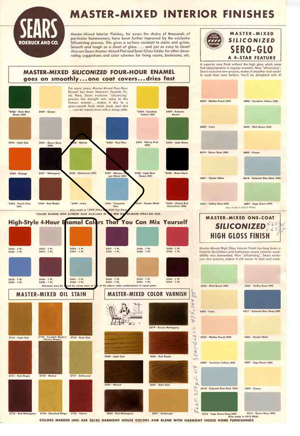 mid century design popular colors