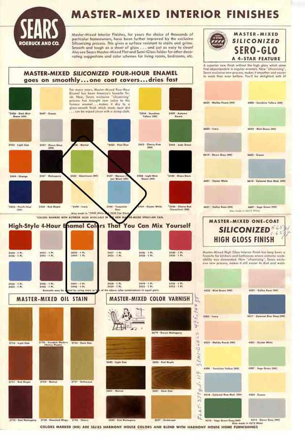 mid century design popular colors