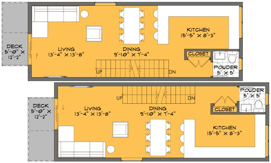 skinny solution small house floor plans