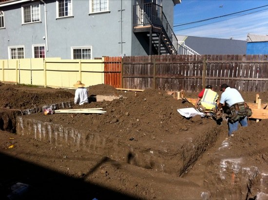 small lot subdivision foundation construction 03