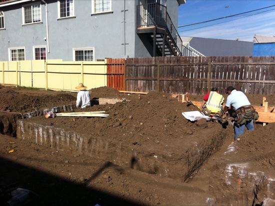 small lot subdivision foundation construction 03