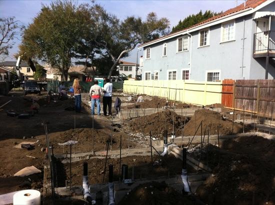 small lot subdivision foundation pour 02