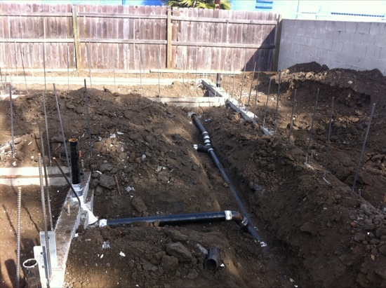 small lot site plumbing