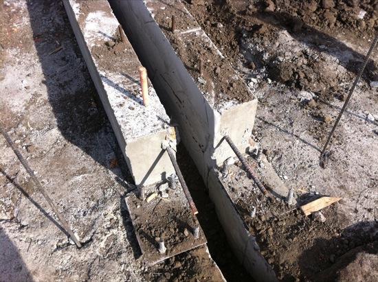 small lot subdivision foundation pour 08