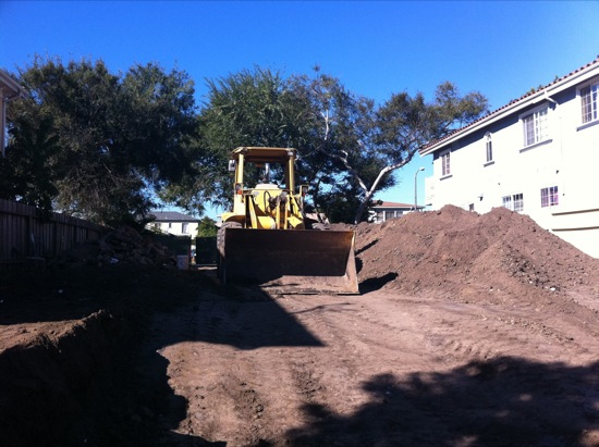 small lot subdivision grading construction 07