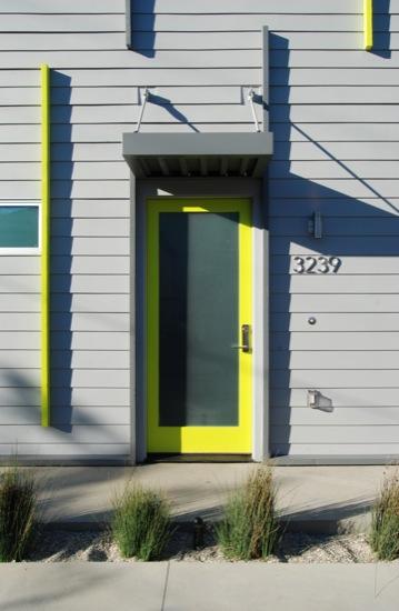 small lot subdivision modern architect cement board siding