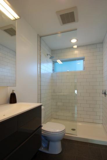 small lot subdivision modern bathroom architect