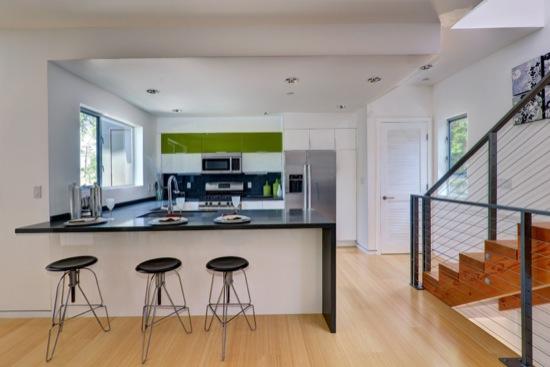 small lot subdivision modern kitchen bar