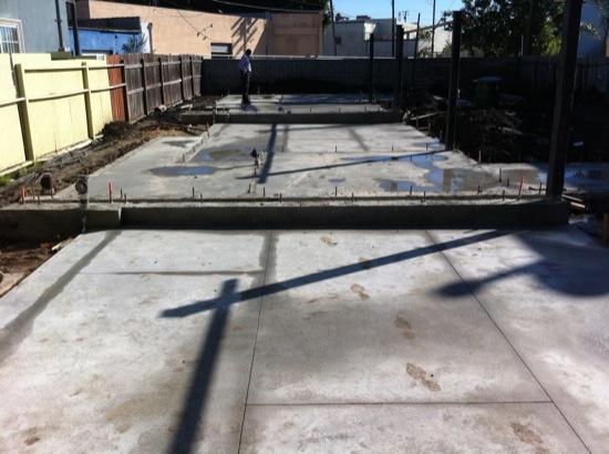 small lot subdivision slab patterns